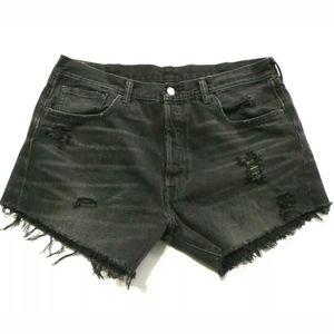 Levi's 501 cut off shorts 32 waist Button fly